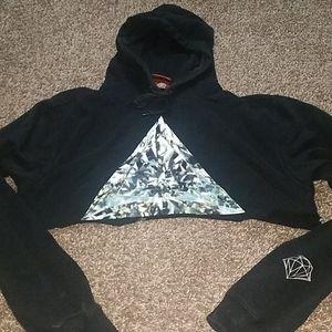Diamond supply co. cropped sweatshirt.